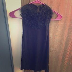 Black Fur Top